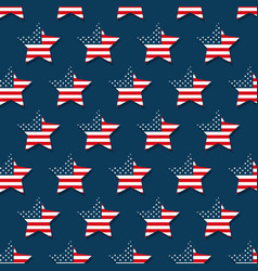 usa flag pattern background vector image