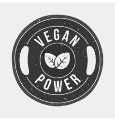 Vegan power gym vector