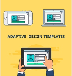 Web Template of Adaptive Login Form vector image