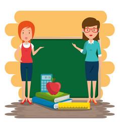 women teacher in the classroom vector image