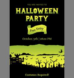 Yellow halloween party roughen gradient greeting vector