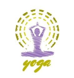 Yoga emblem vector