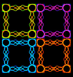 a set of frames from bound strips vector image vector image