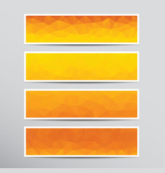 banners with orange polygons vector image