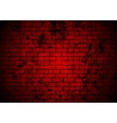 Dark red grunge brick wall background vector image vector image