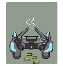 joystick games icon yellow vector image