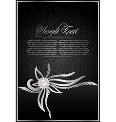 vintage black background vector image vector image