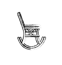 Figure comfortable chair to relaxation object icon vector