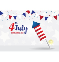 Independence Day 4 th July firecracker vector image
