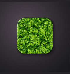 Leaves texture icon stylized like mobile app vector image