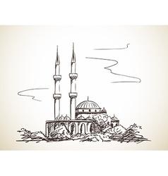 mosque vector image vector image