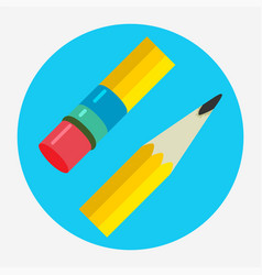 pencil icon flat logo vector image