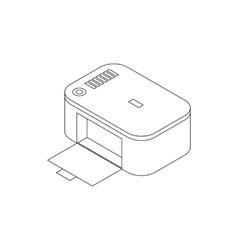 Photo printer icon isometric 3d style vector image