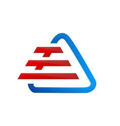 triangle stripes construction logo vector image