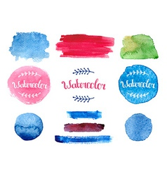 watercolor collection vector image vector image