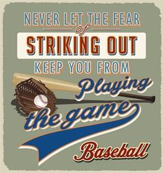baseball striking out vector image vector image