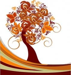 three floral design vector image