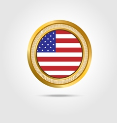 Banner American flag vector image vector image