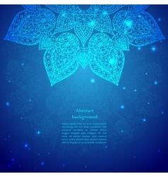 Blue Vintage Indian Ornament vector image