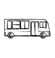 bus public transport vehicle sketch vector image
