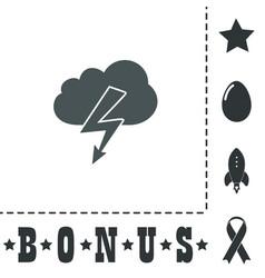 cloud lightning icon vector image