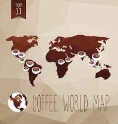 Coffee map vector image