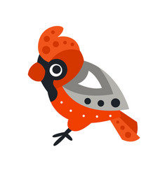 kingfisher bird colorful cartoon character vector image vector image