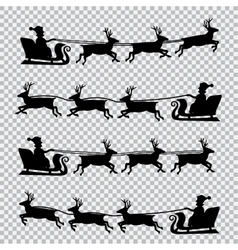 Santa flying deer vector image