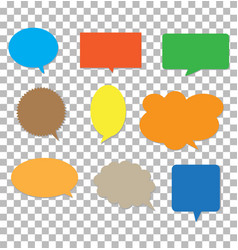 speech bubbles on transparent background blank vector image vector image