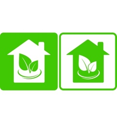 two eco houses vector image vector image