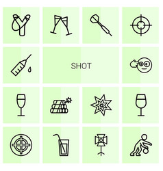 14 shot icons vector