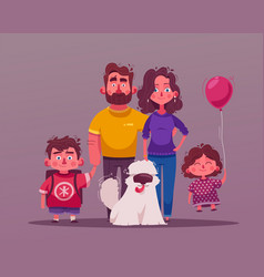 Big happy family together character design vector