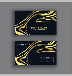 Black and gold luxury abstract business card vector