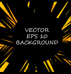 black and orange abstract background vector image