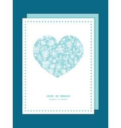 blue and white lace garden plants heart vector image