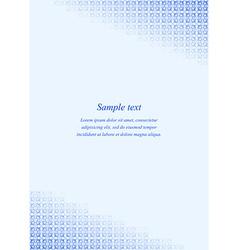 Blue page corner design template vector