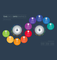 business presentation with ten options vector image