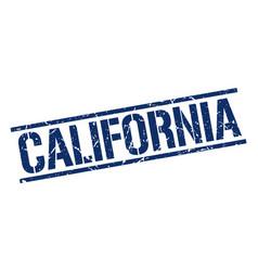 California blue square stamp vector