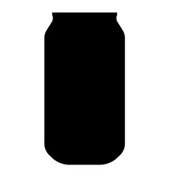 can the black color icon vector image