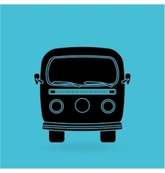 car retro design vector image