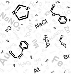 chemical background vector image vector image