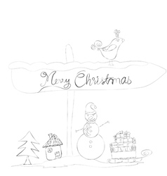 Christmas doodle sketches vector