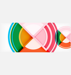circle abstract background geometric modern vector image