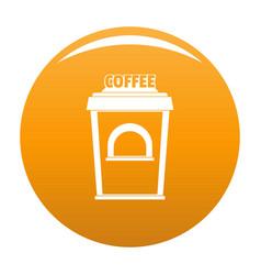 Coffee selling icon orange vector
