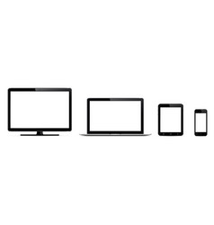 Digital devices monitor laptop tablet vector