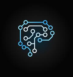 digital human brain creative outline icon vector image