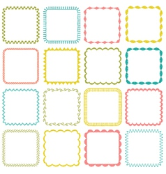 embroidered square frames vector image