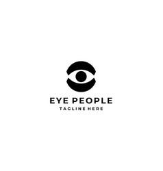 eye people logo vector image