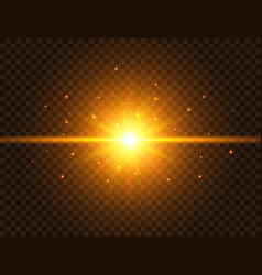 futuristic light on transparent background gold vector image