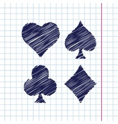 game cards icon Epshand drawn0 vector image